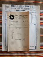 Lot De 2 67 STRASBOURG Neuhof Grande Biscuiterie D Alsace LA CIGOGNE - Factures