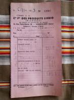 93 AUBERVILLIERS Compagnie Francaise Des Produits LIEBIG Viandox - Factures