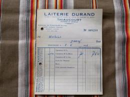 54 THIAUCOURT    LAITERIE DURAND - Factures