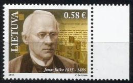 Litauen, 2015, 1189, 200. Geburtstag Von Jonas Juška. MNH ** - Litouwen