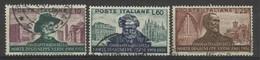 1951 Italia Italy Repubblica GIUSEPPE VERDI Serie Di 3 Valori Usati - Musica