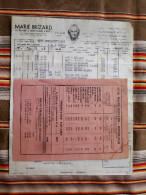Lot De 2 33 BORDEAUX    MARIE BRIZARD  Facture Et Tarif  1951 - Factures