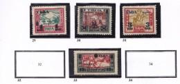RUSSIE TOUVA 1932  29 30 31 33 MH - Tuva