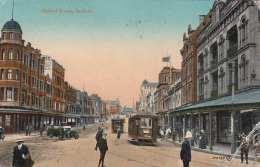 SYDNEY - Oxford Street, Karte Gel.1924 Nach Böhmen, 2 Marken, Zensurstempel, Ecke Bestossen - Sydney
