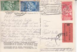 1939 - Incoronazione Pio XII Totale 2,25 Lire In Tariffa Cartolina Raccomandata Per L´estero - Vatican