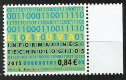 Litauen, 2015, 1200, Informationstechnologie. MNH ** - Lithuania