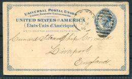 1886 USA New York Customs House Brokers Private Stationery Postcard - Cunard Line Steamship Company Liverpool