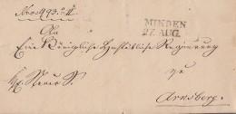 Brief Gelaufen L2 Minden 27.8. Nach Arnsberg - Preussen