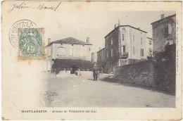 47 - Montflanquin - Avenue De Villeneuve Sur Lot - BE - éd Déguilhem - Monflanquin