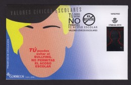 SPAIN ESPAGNE 2016 FDC. BULLYING - 1931-Heute: 2. Rep. - ... Juan Carlos I