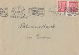 Westsachsen Brief Mef Minr.2x 119 Leipzig 1.4.46 - Sowjetische Zone (SBZ)
