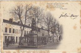 47 - Villeneuve Sur Lot - Statue Et Boulevard Bernard Palissy - BE - Villeneuve Sur Lot