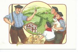 64-*PAYS BASQUE-EUSKAL HERRIA*Illustrateur Anne-Odile HUET-HUMEAU-*Là-Haut Sur La Montagne - Non Classés