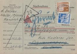 Bauten NN-Karte Mif Minr.89wg, 74eg Walldürn 13.6.50 - Bizone