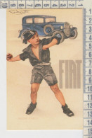 Pubblicitari Publicitè Fiat - Pneumatici Pirelli  Riproduzione - Publicité
