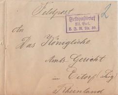 Feldpostbrief III. Batl. L. J. R. Nr. 80 Gelaufen Nach Eitorf - Deutschland