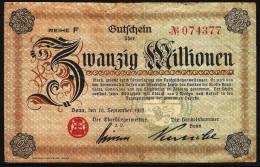 20 Millionen Mark (Bonn) 10/09/1923. Allemagne/Germany - [ 3] 1918-1933 : République De Weimar