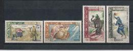 LAOS02)1962  Serie Cpl 4 Val MLH SCOTT 77-80 - Laos