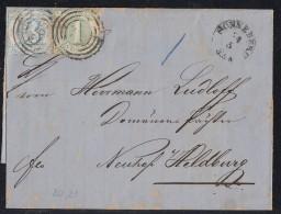 Thurn & Taxis Brief Mif Minr.20, 21 Sonneberg 24.5. Nr.-St. 265 - Thurn Und Taxis