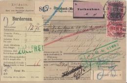 DR NN-Paketkarte Mif Minr.2x 70,71,77 Offenbach 24.1.06 Gel. In Schweiz - Deutschland