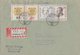 Berlin R-Brief Mif Minr.166,169,174, 175 Hamburg - Briefe U. Dokumente