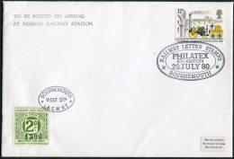 1980 GB Bournemouth Philatelex London & South Western Railway Train Cover - 1952-.... (Elizabeth II)