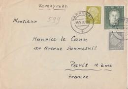 Bund Brief Warenprobe Mif Minr.177,182,201 Hammerau 15.2.55 Gel. Nach Frankreich - BRD
