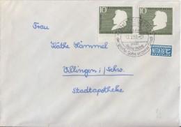 Bund Brief Mef Minr.2x 229 SST Düsseldorf 17.2.56 FDC - BRD