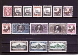 VATICAN 1933 Gardens And Medallions Cpls Set Of 12 Stamps Sassone  Cat. N° 19/34 Mint Hinged - Vatican