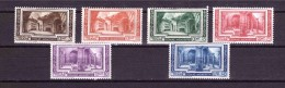 VATICAN 1938 Archeological Congress Cpls Set Of 6 Stamps Sassone  Cat. N° 55/60 Mint Hinged - Vatican