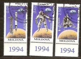 Moldova Moldavie 1994 Yvertn° 96-98 (°) Used Oblitéré  Cote 5,40 Euro Cept Europa - Moldavie
