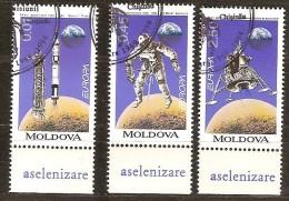 Moldova Moldavie 1994 Yvertn° 96-98 (°)  Oblitéré Cancelled Cote 5,40 Euro Cept Europa - 1994