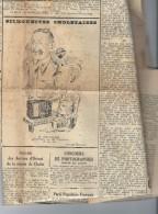 """49 -CHOLET - Journal Rare """"l' Intérêt Public De Cholet """" 28/101938 , Dessin M .CHEVALIER électr. - Journaux - Quotidiens"""