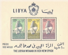 Libya,  Scott 2016 # 251a,  Issued 1964,  S/S Of 3,  MNH,  Cat $ 5.50,  MOTH - Libia