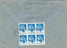 RUMÄNIEN 1926? - 6er Block 2 T Auf Brief Gel.v. Bucarest > Wien - Rumänien