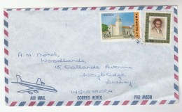 Air Mail VENEZUELA COVER Stamps CATHEDRAL  To GB - Venezuela