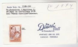 VENEZUELA COVER Stamps 0.50 ROMULO GALLEGOS To USA Literature - Venezuela