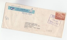1958 Registered VENEZUELA Illus ADVERT SHIP & YACHT Astilleros Co  COVER To AQUAMAID NY USA , Stamps - Venezuela