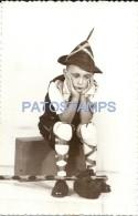 37777 REAL PHOTO COSTUMES CARNIVAL DISGUISE BOY IRISH  NO POSTAL TYPE POSTCARD - Sonstige