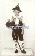 37779 REAL PHOTO COSTUMES CARNIVAL DISGUISE BOY IRISH NO POSTAL TYPE POSTCARD - Cartoline