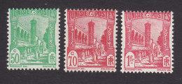 Tunisia, Scott #88B, 91, 97A, Mint Hinged, Scenes Of Tunisia, Issued 1926 - Tunisia (1888-1955)
