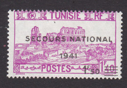 Tunisia, Scott #B76, Mint Hinged, Scenes Of Tunisia Surcharged, Issued 1941 - Unused Stamps
