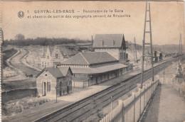 Genval Les Eaux, Panorama De La Gare Et Chemin De Sortie Des Voyageurs Venant De Bruxelles (pk29620) - Rixensart