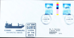 Australian Antarctic Research Expededition - Davis- From German Ship Icebird - 1986 15 Nov  Gutterpair Antarctic Treaty - Forschungsstationen