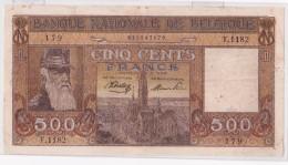 BELGIQUE BILLET DE 500 FRANCS  TYPE DYNASTIE   ANNEE  4-5-1945    TTB A SUP - [ 2] 1831-... : Reino De Bélgica