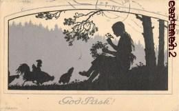 ILLUSTRATOR HILDSEN ? GOD PASK JOYEUSES-PAQUES NORDISK KONST STOCKHOLM 1921 SUEDE SWEDEN - Zonder Classificatie
