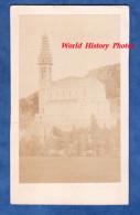 Photo Ancienne CDV - Notre Dame De LOURDES - 1872 - Clocher En Construction - Photographie VIRON - A N-D De POUEYLAUN - Old (before 1900)