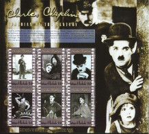 ANTIGUA BARBUDA SHEET CHAPLIN CINEMA - Acteurs