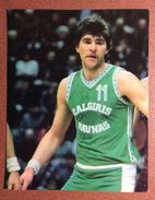 Ruusian Card 1987 Pride Of Soviet Sport. Basketball.  Master Of Sport Arvydas Sabonis.  Autograph. - Basket-ball