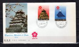 "VATICAN 1970 :  Enveloppe 1er Jour "" EXPOSITION UNIVERSELLE D´OSAKA "". Voir Les Scans. FDC - 1970 – Osaka (Japan)"
